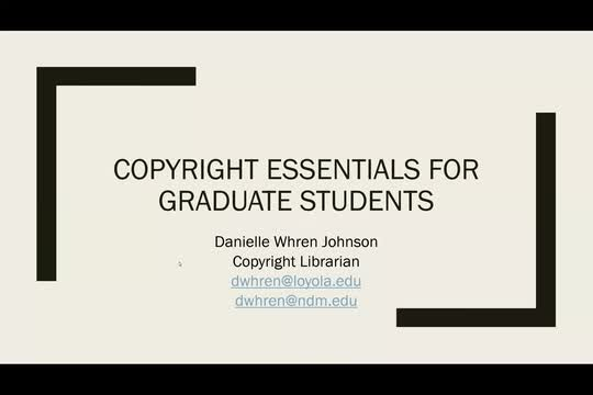 Copyright Essentials for Graduate Students