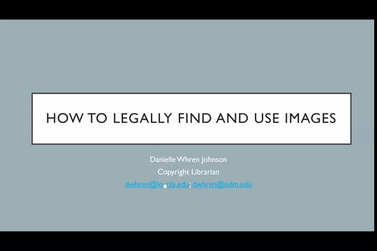 How to Find and Legally Use Images